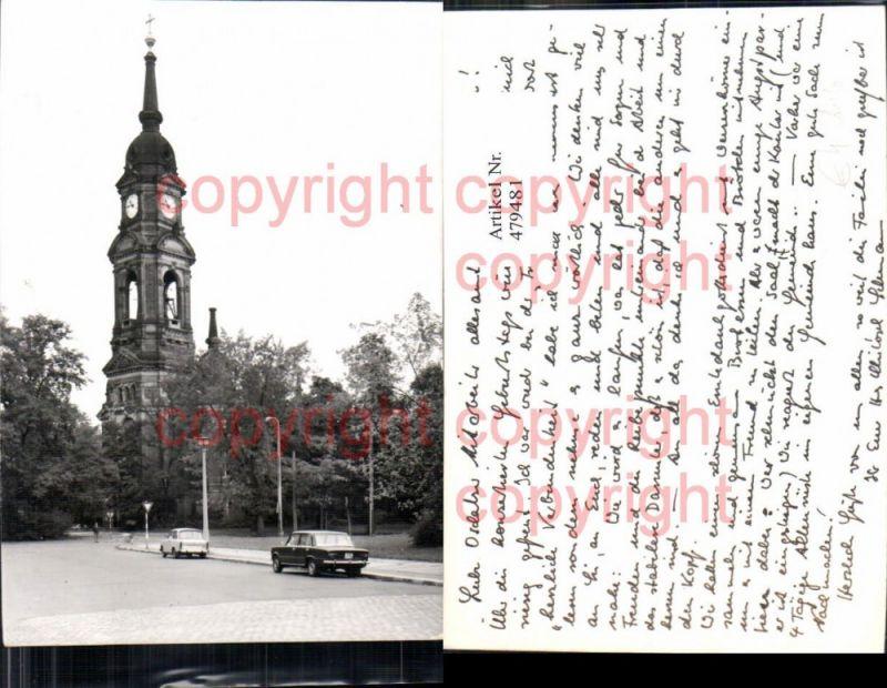 Foto Trabi Trabant Auto PKW Uhrturm Turm Kirche