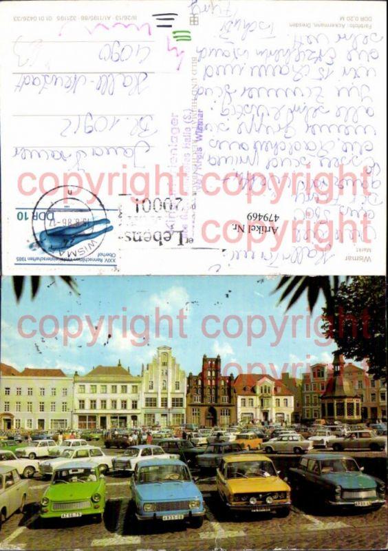 Wismar Markt Parkplatz Trabi Trabant Auto PKW
