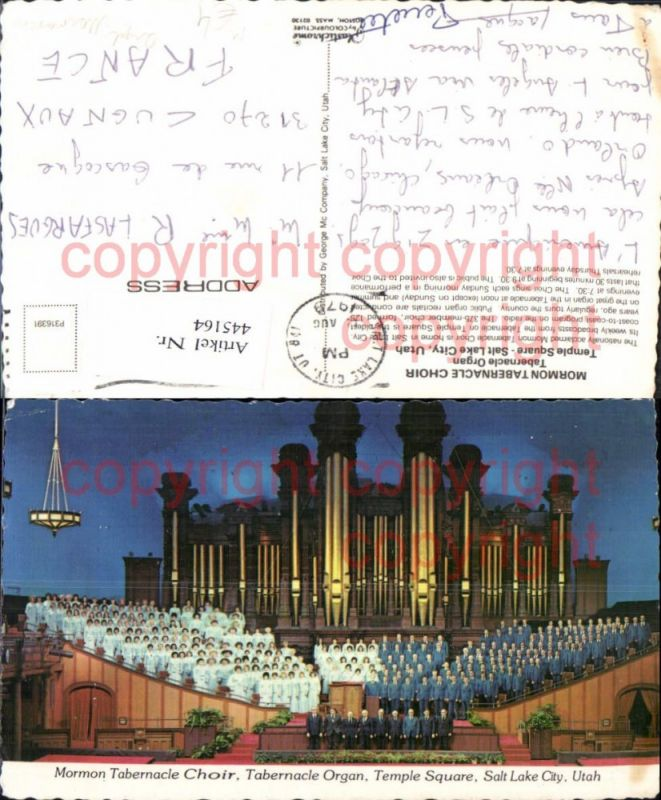 Mormon Tabernacle Choir Tabernacle Organ Orgel Salt Lake City Musikinstru