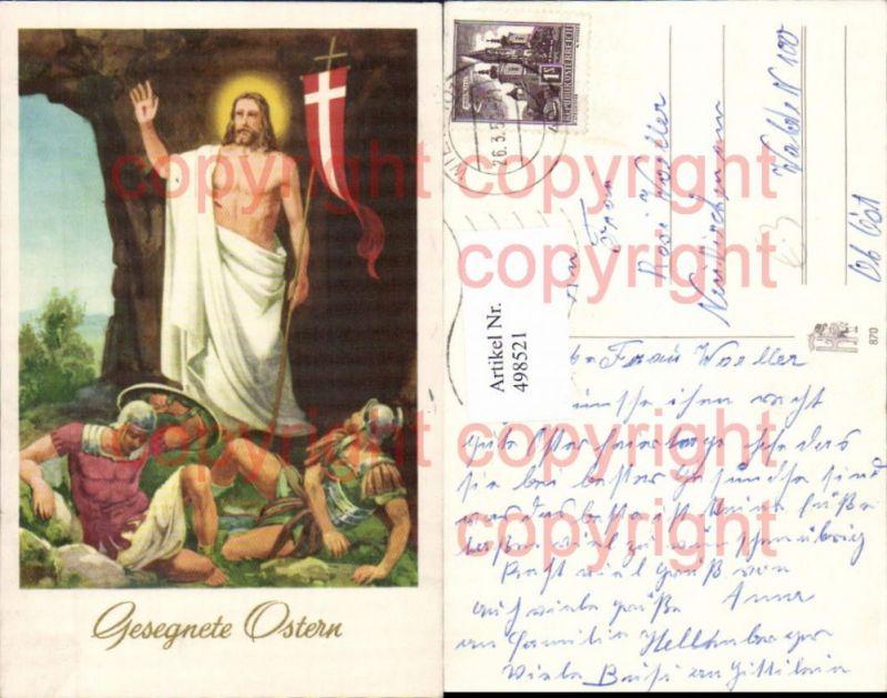 Künstler Ak Jesus Gonfanon Soldaten Ostern Religion