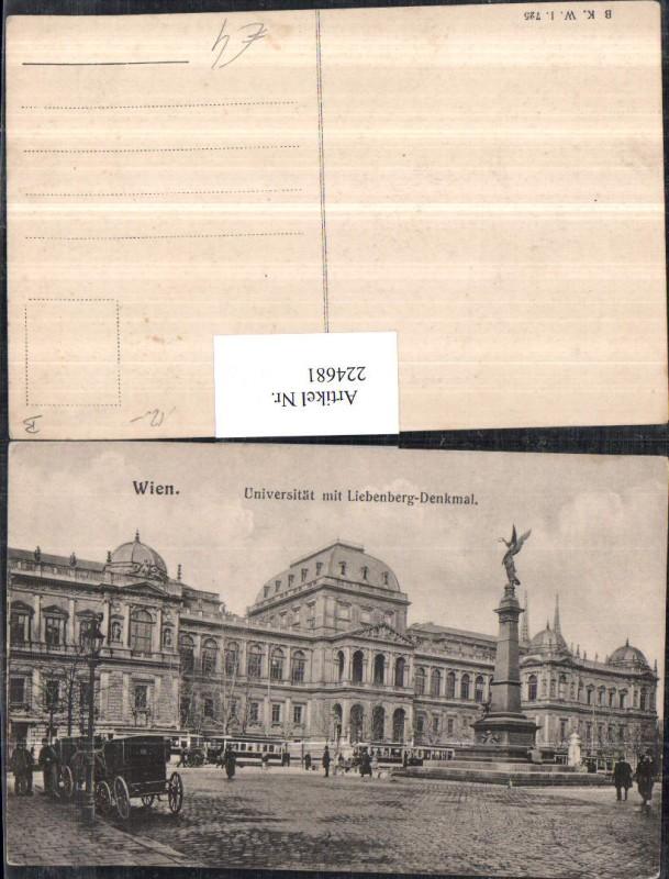 Wien 1 Universität m. Liebenberg-Denkmal