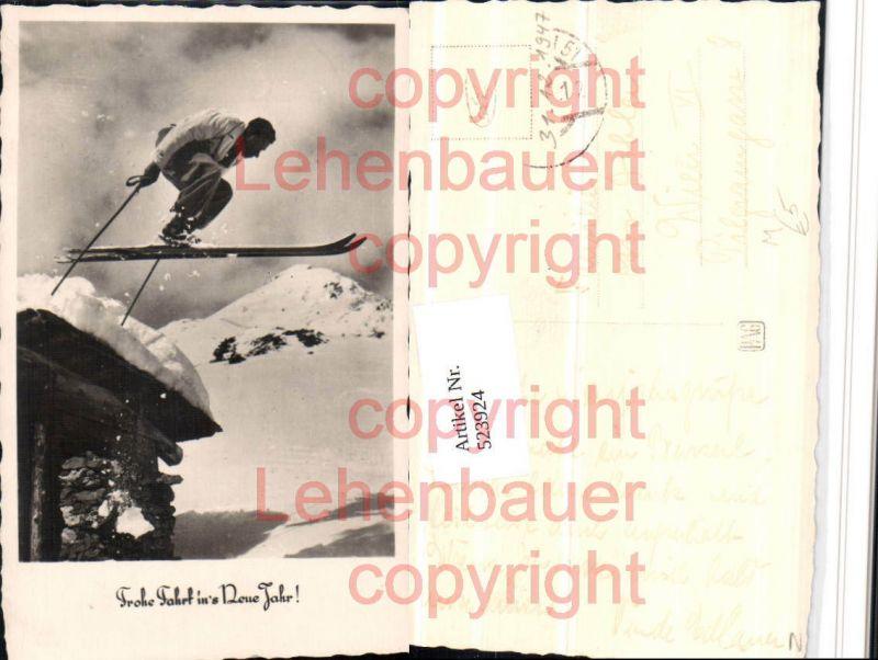 Frohe Fahrt ins neue Jahr Sport Skispringer Winterbild