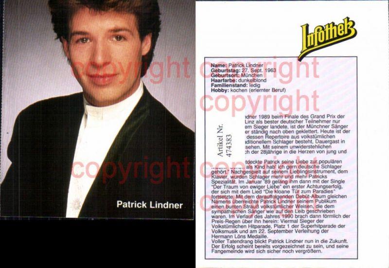 Musiker Band Patrick Lindner Infothek