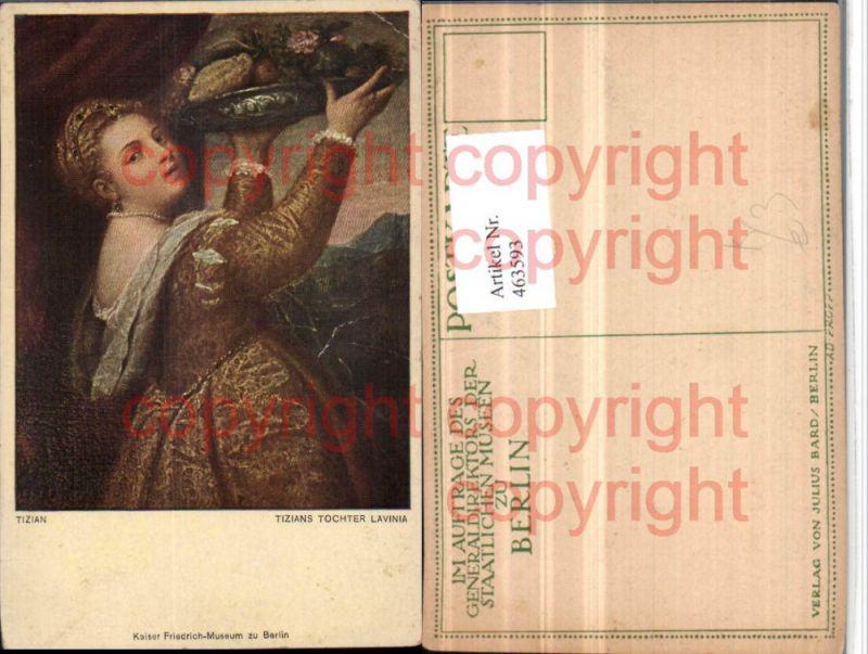 Künstler AK Tizians Tochter Lavinia Kleid Tablett