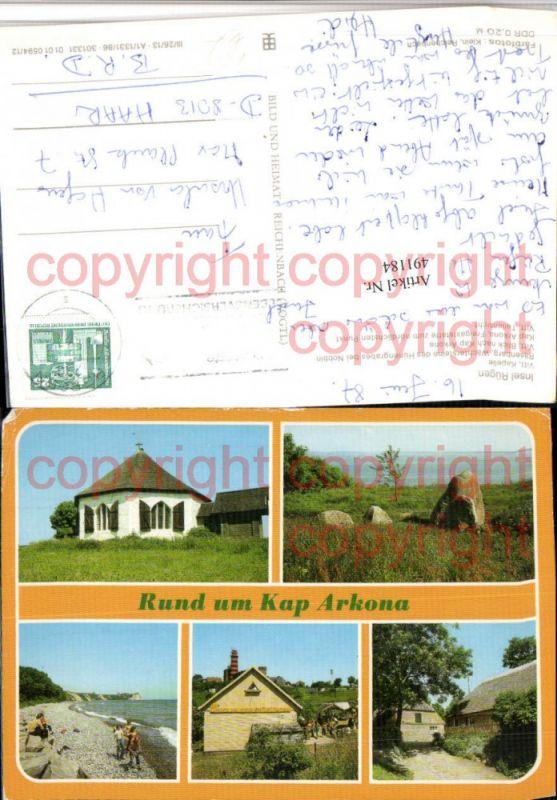 Insel Rügen Vitt Kapelle Kap Arkona Mehrbildkarte pub VEB
