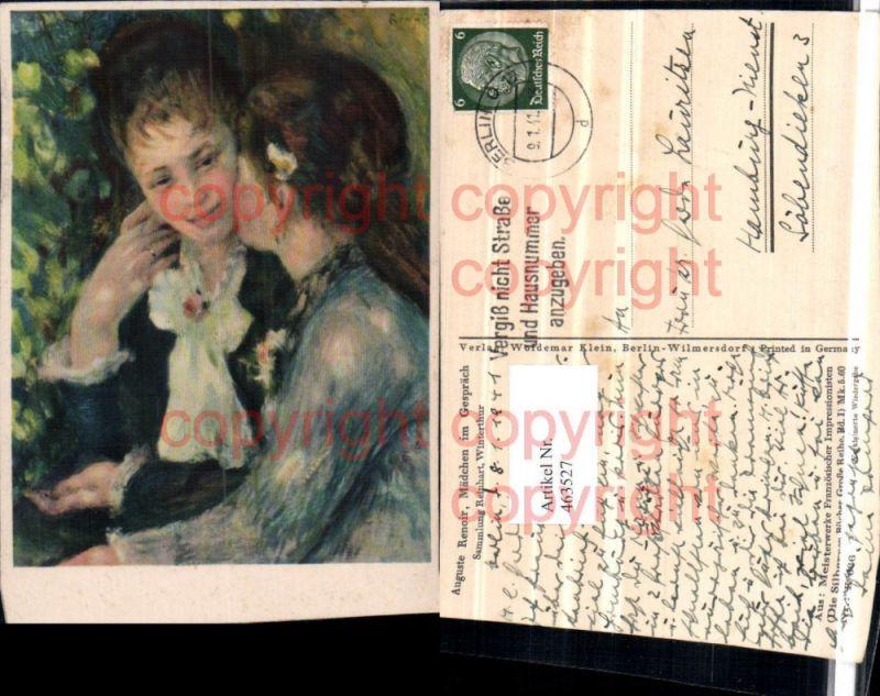 Künstler AK Auguste Renoir Mädchen im Gespräch