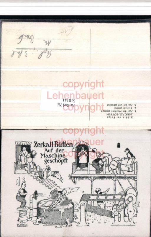 Seltene 3 tlg. Reklame Klapp AK Zerkall Bütten Hürtgenwald Papierfabrik s