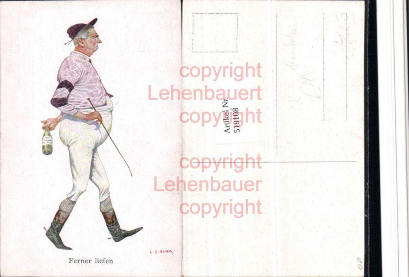Künstler Ak C.F. Bauer Scherz Humor Karikatur Polo Reitsport Ferner liefe