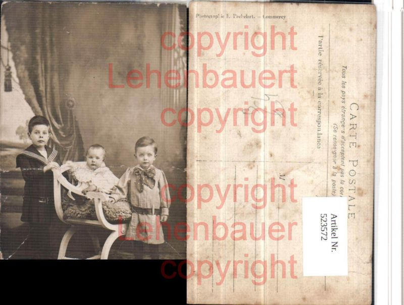 Kinder Stuhl Thonet Matrosenanzug Uniform pub Pachelart Commercy