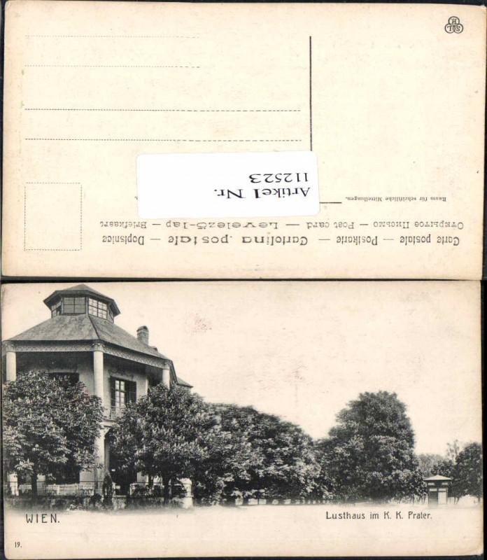 Wien 2 Prater Lusthaus im K.K. Prater 1900