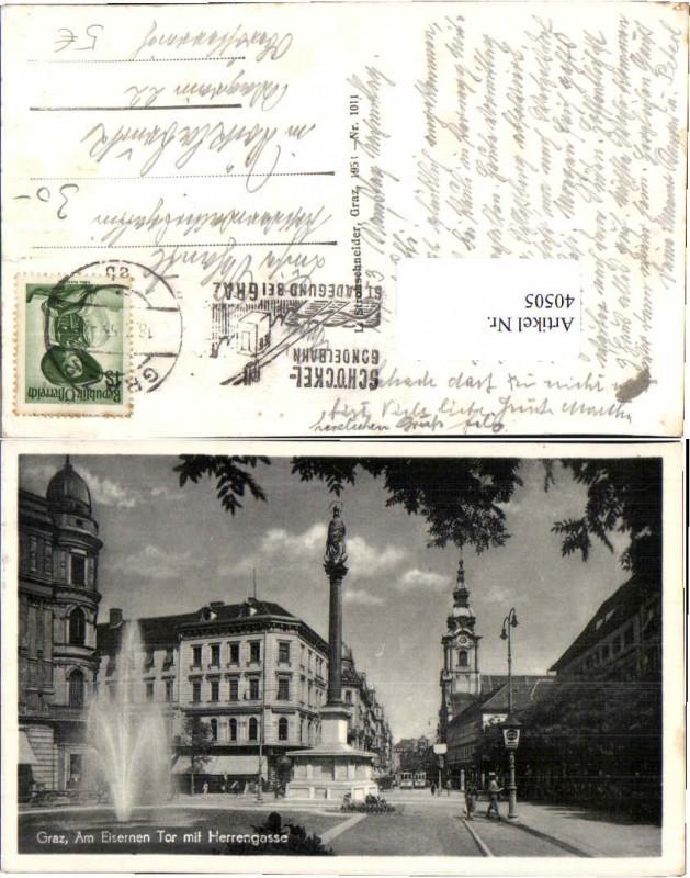 40505;Graz Herrengasse Eisernen Tor Strassenansicht