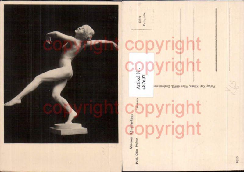 Foto Ak Prof. Otto Hofner Tanzende Statue Akt Erotik pub Wiener Künstlerh
