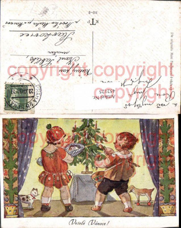 ak ansichtskarte weihnachten kinder engel weihnachtsbaum. Black Bedroom Furniture Sets. Home Design Ideas