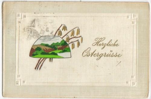 Herzliche Ostergrüsse Schöne Karte 1908