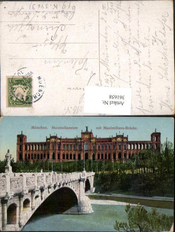 München Maximilianeum m. Maximilians-Brücke