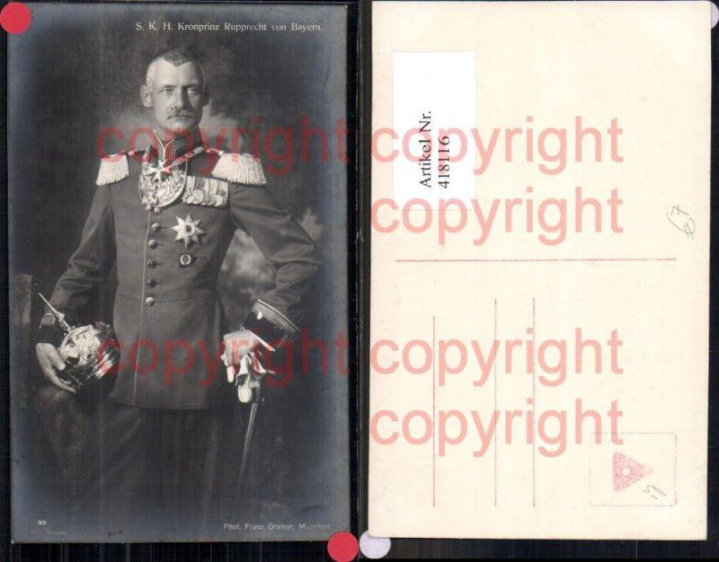 Kronprinz Rupprecht v. Bayern Adel Monarchie Deutschland Pickelhaube Unif