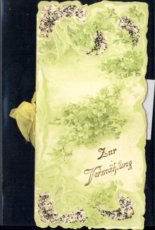 Prage Klappkarte Zur Vermahlung Hochzeit Ornament Blumen Nr 203357