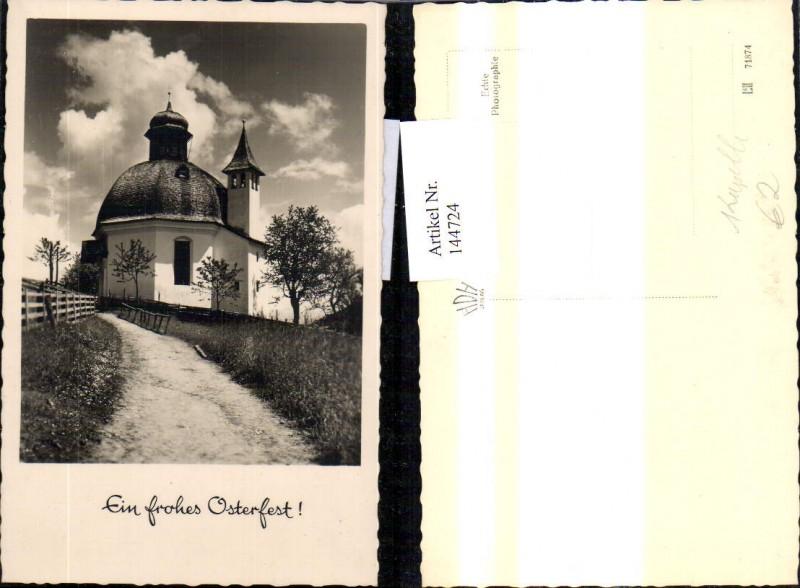Foto Ak Kapelle Ein frohes Osterfest Religion