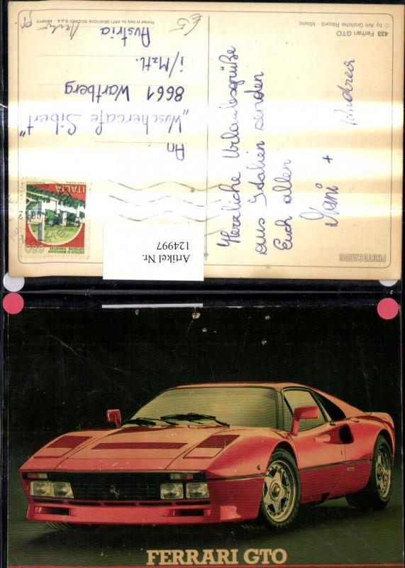 Auto Sportwagen Ferrari GTO