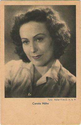 Orig. Autogrammkarte Carola Höhn Foto Adler Film GMBH