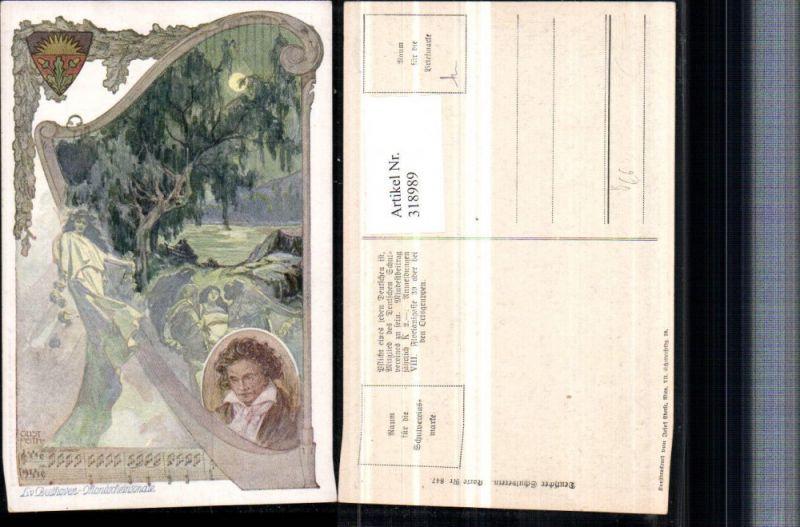 Deutscher Schulverein 847 Künstler Gustav Feith Beethovens Mondscheinsona