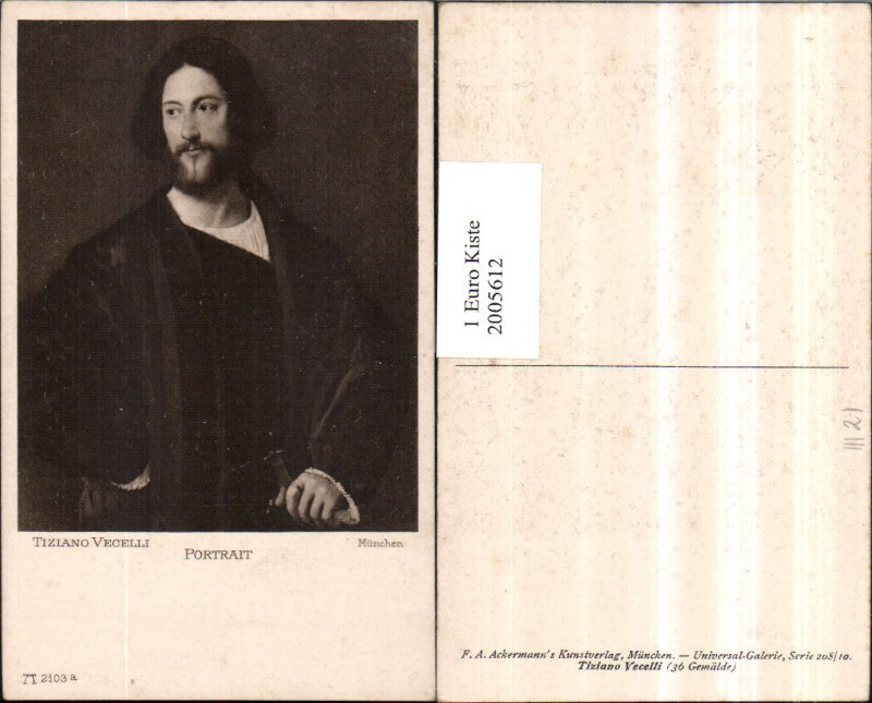 Künstler AK Tiziano Vecelli Portrait