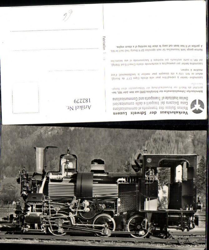 Eisenbahn Zug Lokomotiven Train Dampflok Modell z. Veranschaulichung