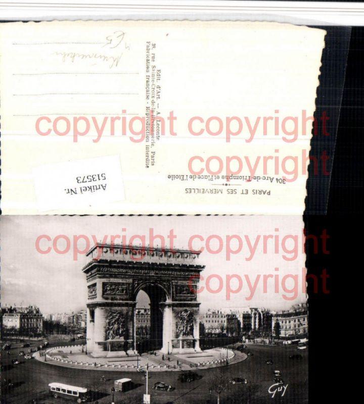 Paris Arc de Triomphe et Place Etoile Torbogen Kreisverkehr