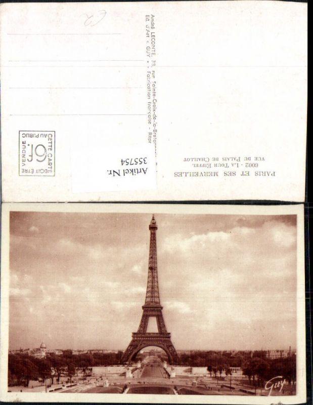 Turm Paris La Tour Eiffel Eiffelturm vue du Palais de Chaillot