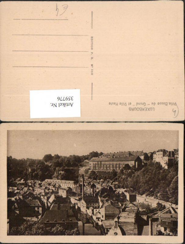 Luxembourg Luxemburg Ville-Basse du Grund et Ville Haute Teilansicht