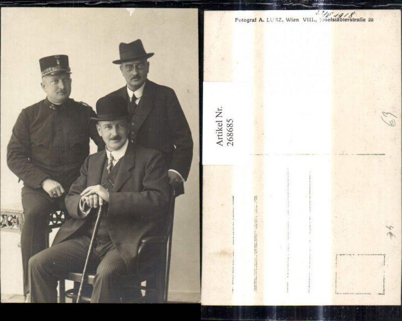 Foto Ak Männer Anzug Hut Uniform Gehstock Gruppenbild Nr. 268685 ...