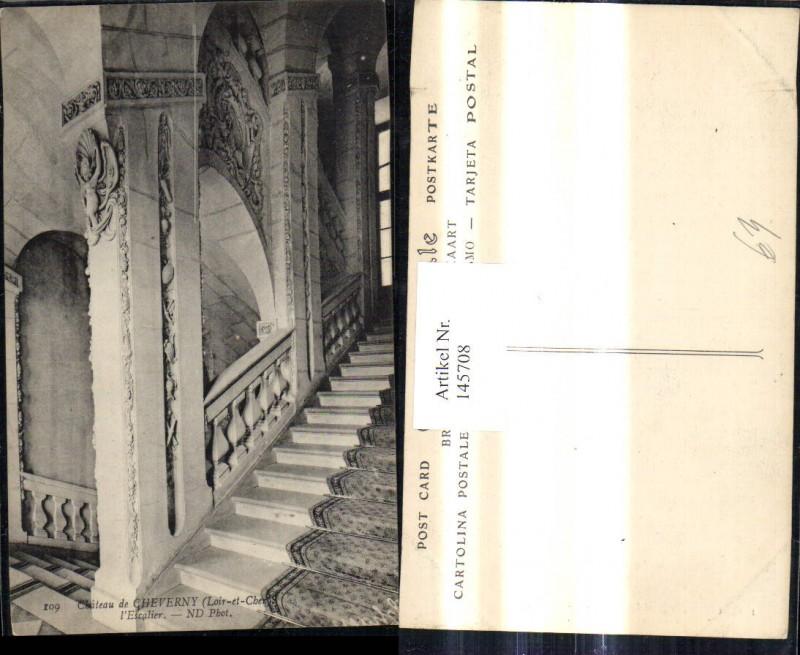 Schloss Chateau de Cheverny Loir et Cher l Escalier Stiegenhaus Treppe In