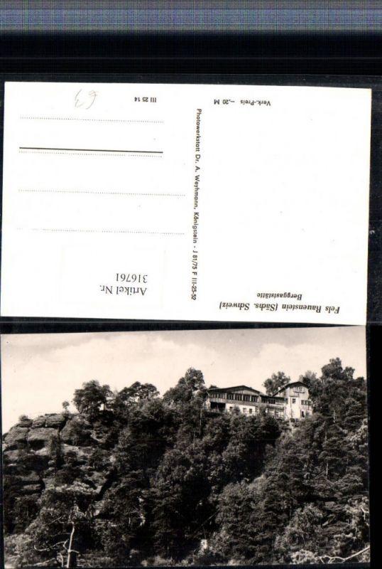 Sächsische Schweiz Fels Rauenstein b. Struppen Berggaststätte