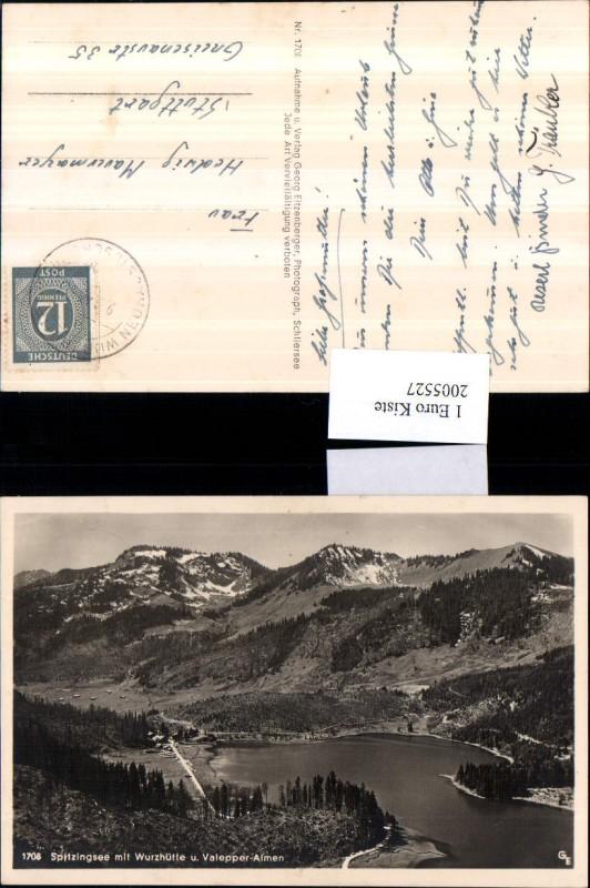 Spitzingsee See m. Wurzhütte u. Valepper-Almen b. Schliersee