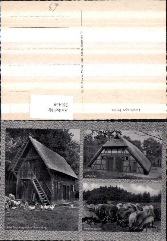 Lüneburger Heide Schafstall Heidschnucken Treppenspeicher Mehrbildkarte