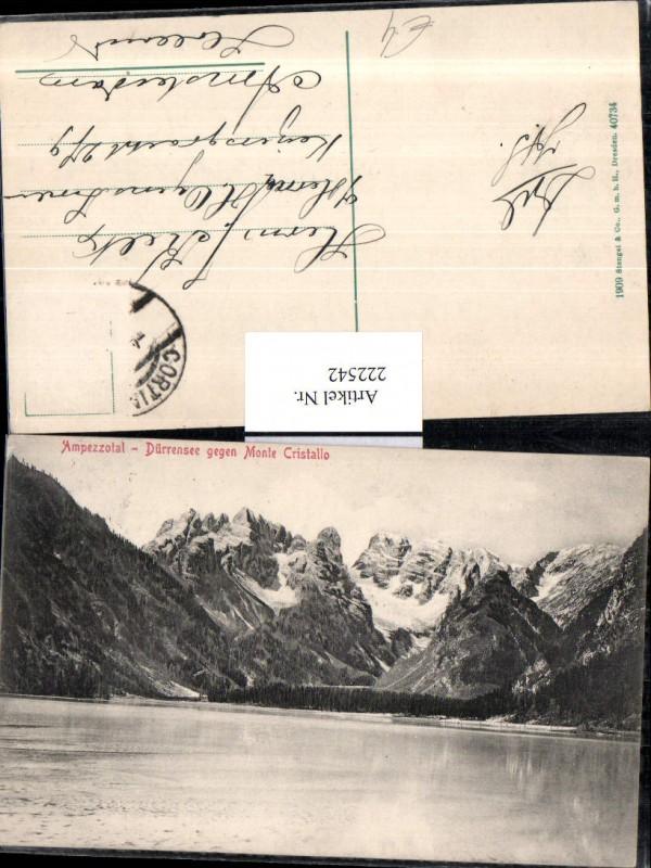 Trentino Ampezzotal Dürrensee See geg. Monte Cristallo b. Toblach