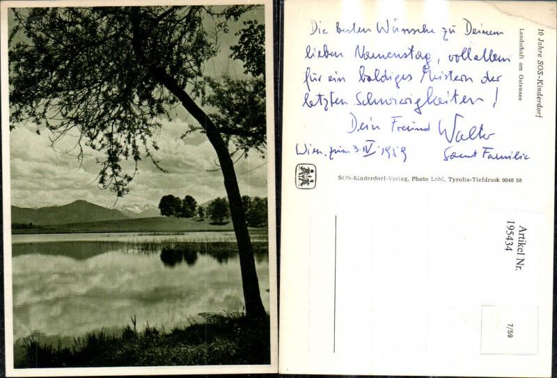 SOS Kinderdorf 7/59 10 Jahre SOS Kinderdorf Landschaft a. Ostensee