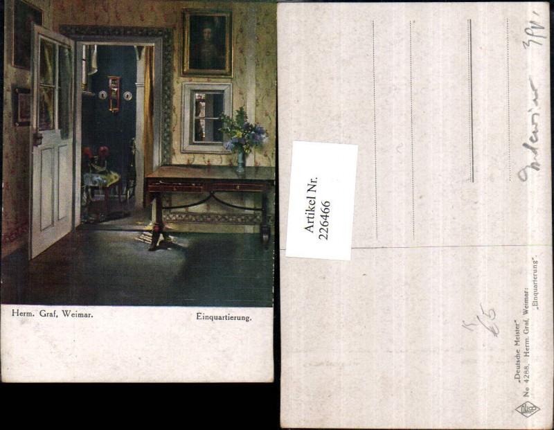 K nstler ak h graf weimar gartenzimmer innenansicht nr for Interieur verlag