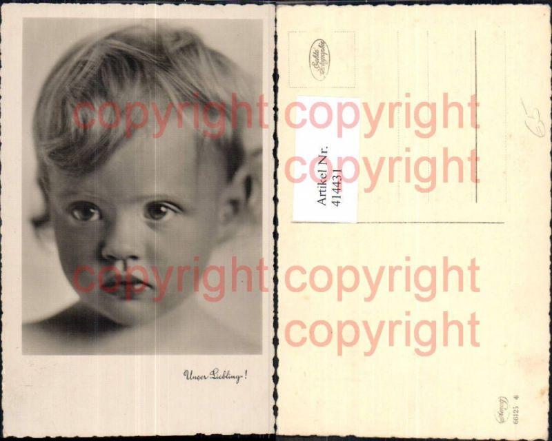 Foto Ak Kind Blondes Kleinkind Portrait Unser Liebling