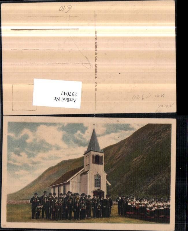 Christiania Kristiania Norwegische Tracht Trachten Kirche