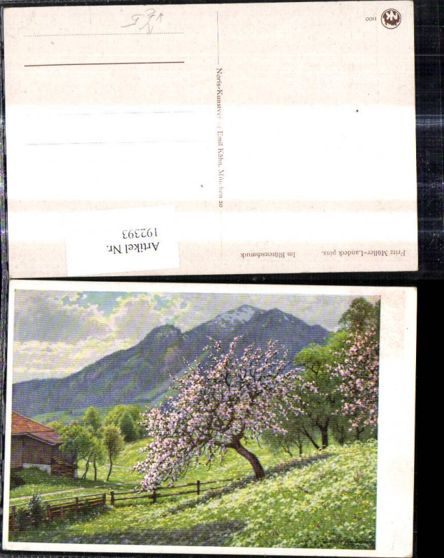 Künstler Ak Fritz Müller Landeck Im Blütenschmuck Baumblüte Bauernhof Lan