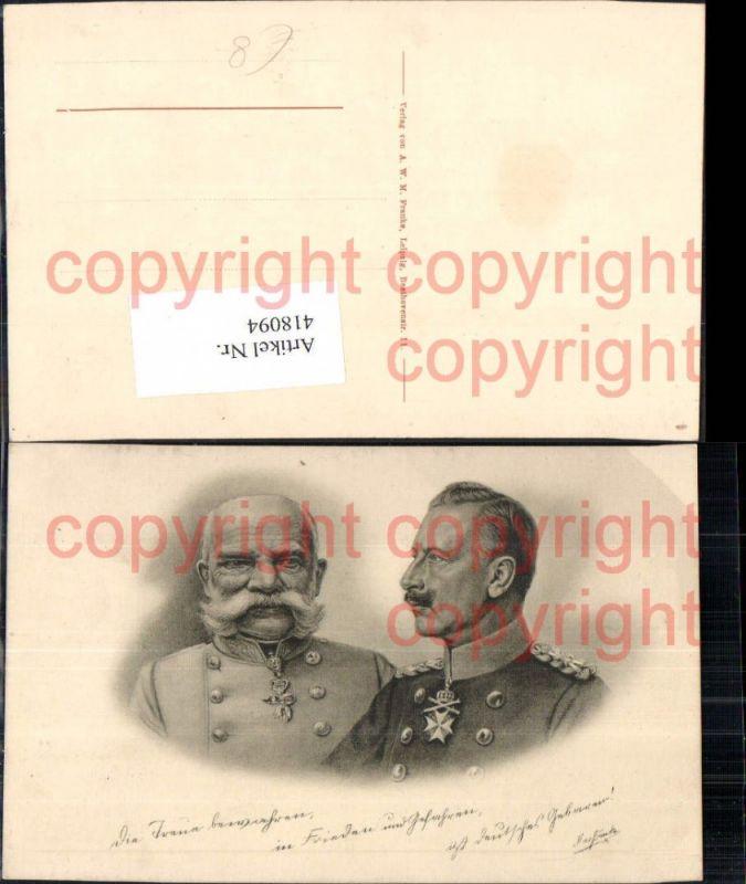 Kaiser Wilhelm II u. Kaiser Franz Josef Adel Monarchie Deutschland