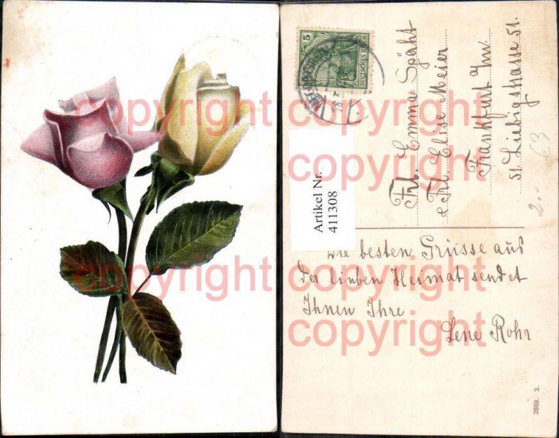 Blumen Rosa u. Gelbe Rose