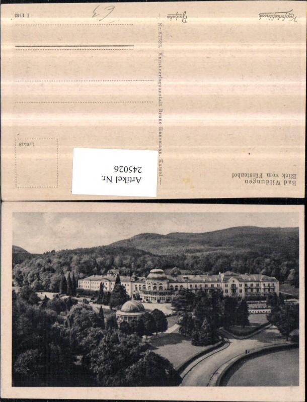 Bad Wildungen Blick v. Fürstenhof