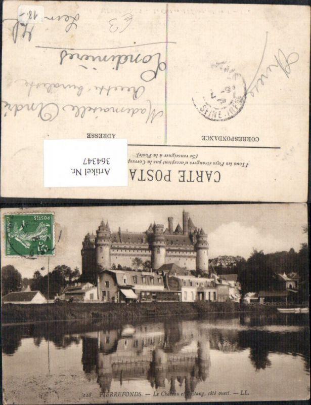 Schloss Pierrefonds Le Chateau et l Etang cote ouest