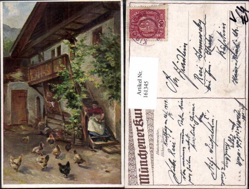 Theo Stroefer MK 128 Hutschenreuther Hühner Fütterung