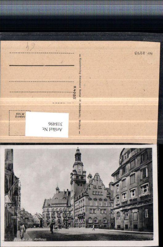 Döbeln in Sachsen Rathaus Straßenansicht