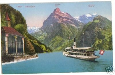 240;Tellskapelle am Vierwaldstättersee mit Boot*1910