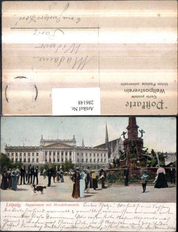 Leipzig Augusteum m. Mendebrunnen Brunnen