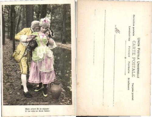 SET LOT of 4 Postcards ART NOUVEAU ROMANCE LOVE 1905s Photo Postcard